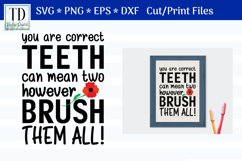 Brush Your Teeth, A Bathroom Sign, SVG or Sublimation Product Image 1