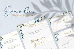 Emola Watercolor Wedding Invitation Product Image 1