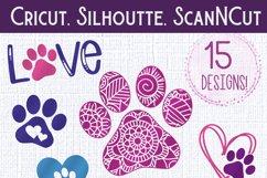 Paw Print Love SVG Bundle | Dog SVG Bundle Product Image 4