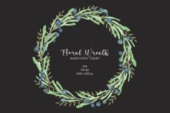 Watercolor floral wreath clipart Product Image 2