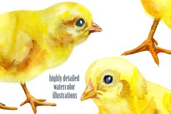 Watercolor yellow chickens Product Image 3