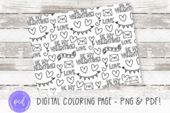 Digital Coloring Page, Procrate Coloring, Printable Coloring Product Image 1