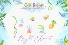 Cute safari animals watercolor clipart pack Africa animals Product Image 4