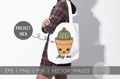 Succulent Pack | Vector succulents & Cactus Kawaii Images Product Image 2