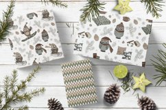 4 Cute Christmas Seamless Patterns Product Image 2