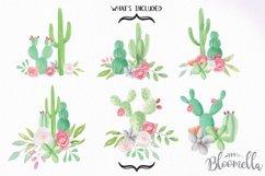 Watercolor Cactus Clipart Bouquets Arrangements Flowers Product Image 4