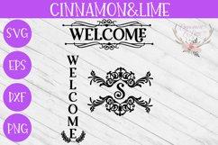 Welcome Vintage Wood Sign SVG Plus Monogram Frame Product Image 1