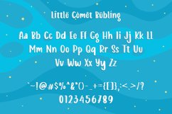 Web Font - Little Comet - Bubbly Handdrawn Typeface Product Image 5