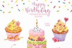 Happy Birthday hand painted watercolor collection Product Image 2