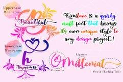 Kimilove // Monogram Script Font Product Image 4