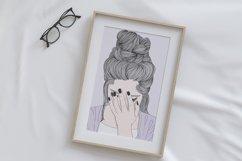 Wall art A woman crying sad Product Image 5