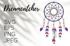 Boho illustration of Dreamcatcher - PNG, JPG, EPS, SVG Product Image 1