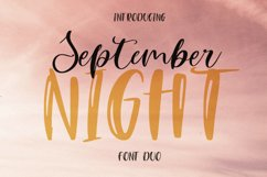 September Night. Font Duo Product Image 1