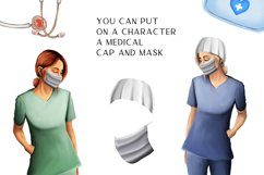 Medical clipart, Nurse clipart, Doctor clipart, Medical Product Image 6