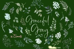 Watercolor Greenery 54 Piece Bundle in Silver Sage and Gray Product Image 3