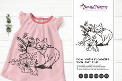 Fox with Flowers| Fox SVG Cut Files| Animals Illustration Product Image 1