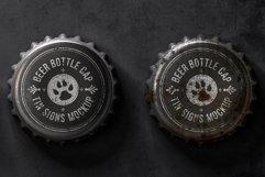 Bottle Cap Metal Tin Signs Mockup Product Image 4