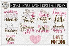 Coffee Love Bundle | 10 Coffee Sublimation or SVG Designs Product Image 1