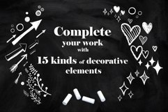 Realistic Chalk Drawings & Lettering Product Image 6