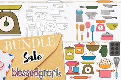 Cooking and Baking Utensils Illustrations Bundle Product Image 4