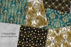 Damask seamless pattern collection. Digital Paper. Victorian Product Image 1