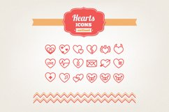 Hand Drawn Hearts Icons Product Image 1
