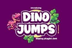 Dino Jumps Display Playful Font Product Image 1