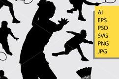 Badminton sport silhouette Product Image 2