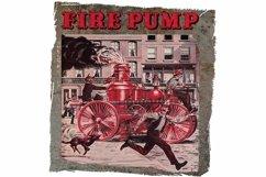 Antique Fire Truck, Vintage Town Scene, Clip Art, Print Product Image 1