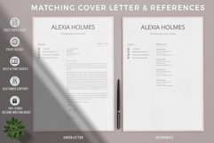 Resume and Cover Letter Template   Minimalist Resume CV Product Image 3