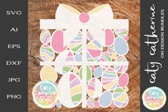 Easter Egg Gift Present Box SVG Cut File Product Image 1