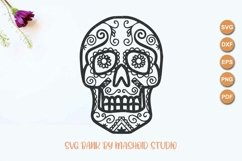 Sugar Skull SVG Files Product Image 2