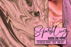 Marbled Paper collection. Rose Gold, Marbling Digital Paper Product Image 2