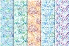 Vibrant waves seamless patterns set Product Image 4