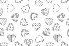 Hand drawn hearts + seamless pattern Product Image 5