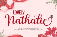 Lovely Nathalie Script Font DUO Product Image 1