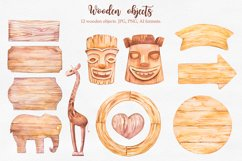 Tropical. Watercolor illustrations. Product Image 3