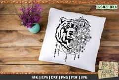 Bear with Flowers SVG   Bear svg   Boho Bear svg   Mama Bear Product Image 2