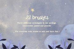 Moonbeams Mix Media brushes Product Image 5