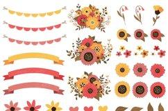 Fall Mason Jar Wedding Clipart - Autumn Wedding Graphics Product Image 2