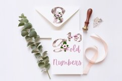Gold magnolia alphabet and numbers Product Image 5