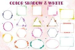 Geometric Frame Color   Decorative Border   Floral Wreath Product Image 5