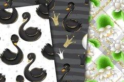 Swans digital paper Product Image 3