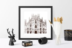 Set of Milan sketches Product Image 2
