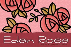 Eden Rose a Hand Lettered Font with Doodles Product Image 1