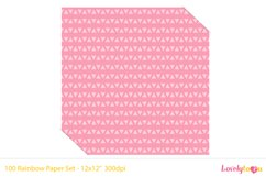 Alternating small triangles, 100 colors seamless paper Product Image 2