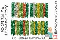 St. Patrick's Day Sublimation Background Bundle | Brush Product Image 1
