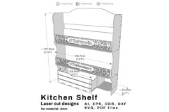 Kitchen shelf - Laser cutting File Product Image 4