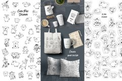 Pigs. Cute vector Stickers & Patterns Christmas graphic Pigs Product Image 5