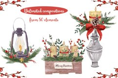 Rustic Christmas Watercolor DIY Set Hand painted Product Image 3